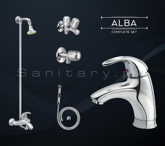 Complete ALBA SET Bathroom Sanitary Fittings code 3042A