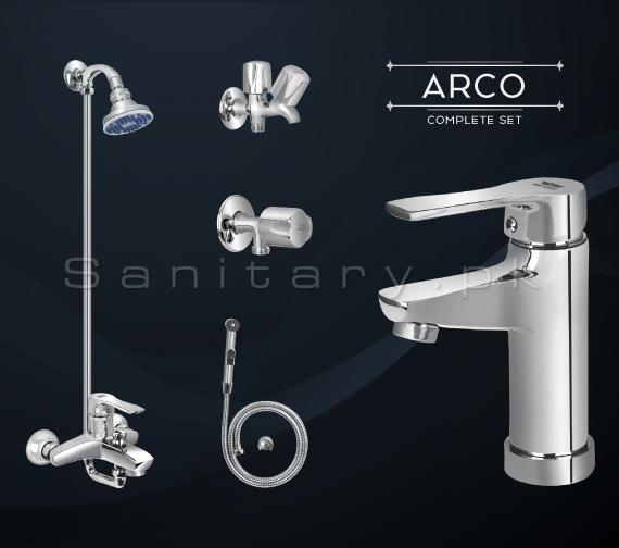 Complete ARCO SET Bathroom Sanitary Fittings Set code 3089A