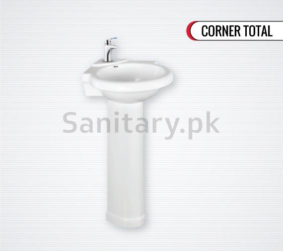 Corner-Total Wash Basin Pedestal  Total sanitary ware