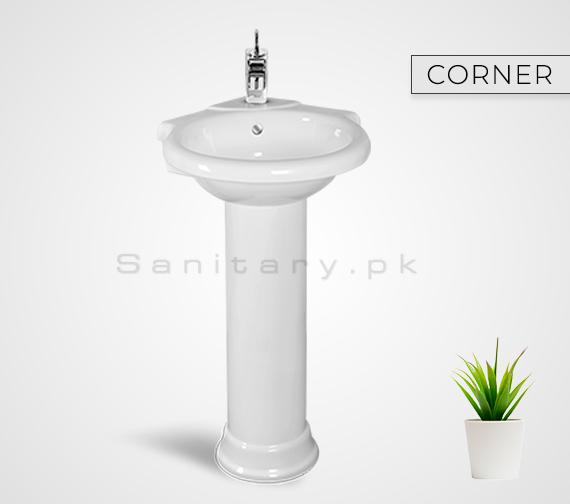 CORNER Washbasan Padestal Sunny Ceramics