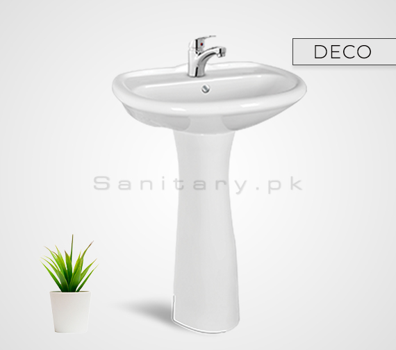 DECO Washbasan Padestal Sunny Ceramics