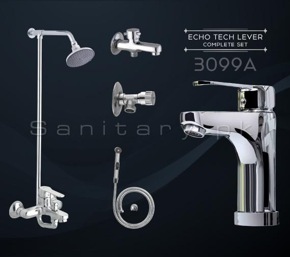 Complete Echo Tech Lever SET Bathroom Sanitary Fittings Set code 3099A