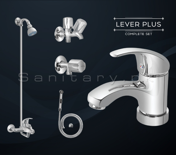 Complete LEVER PLUS SET Bathroom Sanitary Fittings Code 3060A
