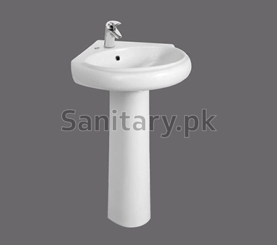 Corner Two Piece Wash Basin Brite Sanitary Ware
